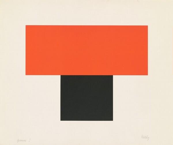 Red-Orange over Black