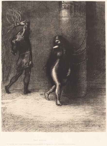 Saint-Antoine...A travers ses longs cheveux qui lui couvraient la figure, j