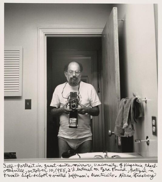 Self-portrait in guest-suite mirror, University of Virginia, Charlottesville, October 10, 1985, I