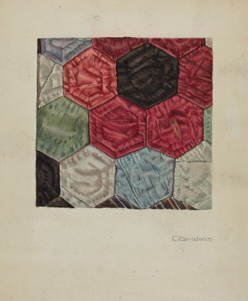 Quilt (detail) - Honeycomb Pattern