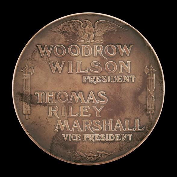 Woodrow Wilson Inaugural Medal [reverse]