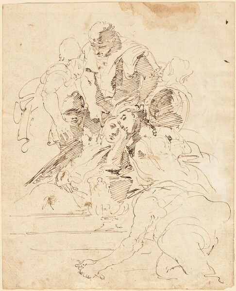 Classical Figures Gathered around an Urn