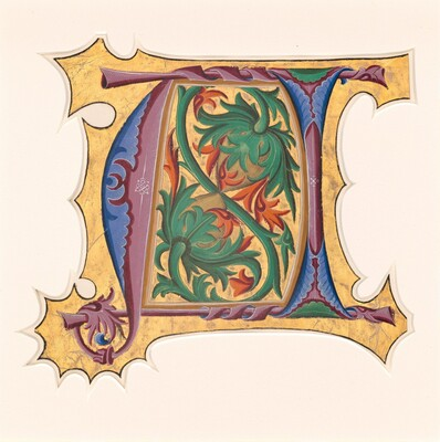 Master of the Cypresses, Initial U (?), 1430s1430s