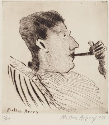 Milton Avery, Rothko with Pipe, 19361936