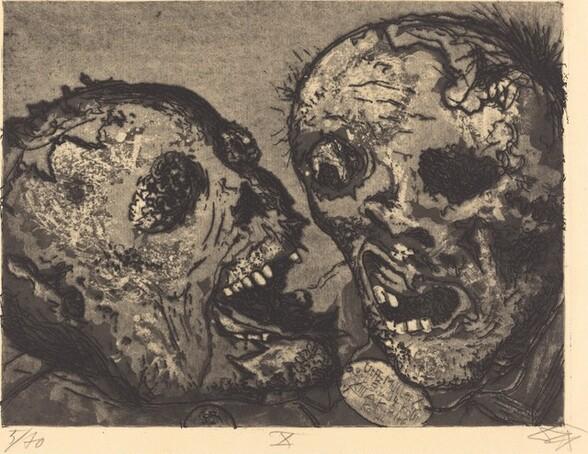 Tote vor der Stellung bei Tahure