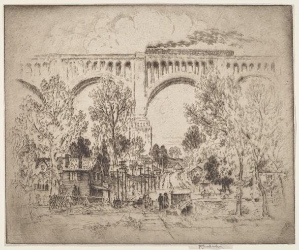 The Viaduct, D., L. & W. at Nicholson, Pa.
