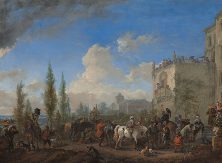 Philips Wouwerman, The Departure for the Hunt, c. 1665/1668c. 1665/1668