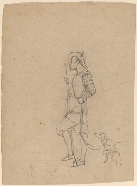 Study of Hunter with Dogs
