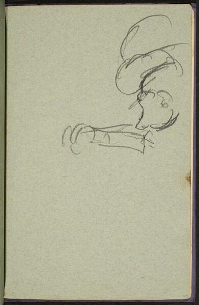 begonnene Figurenstudie (Figural Sketch) [p. 45]