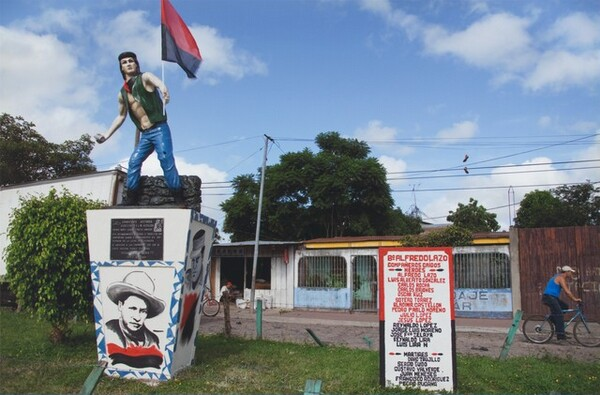 Monument to Pablo Jesús Aráuz, known as Molotov Man, Estelí, Nicaragua, July 2009