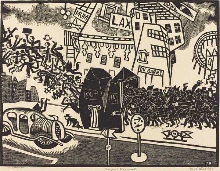 Fred Becker, Rapid Transit, c. 1937