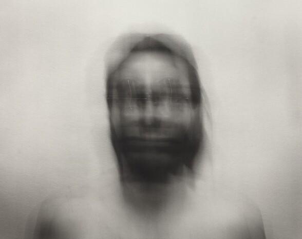 Self-Portrait: Horizontal motion, medium, bisected by Vertical motion, medium