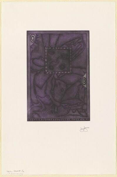 Untitled (Purple Mezzotint) [trial proof 1/2 (2nd element)]