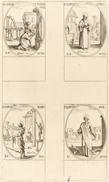 Sts. Simon and Jude, Apostles;  St. Narcissus; St. Marcellus; St. Quintin