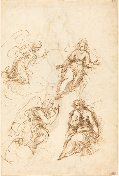 Studies for an Annunciation [recto]