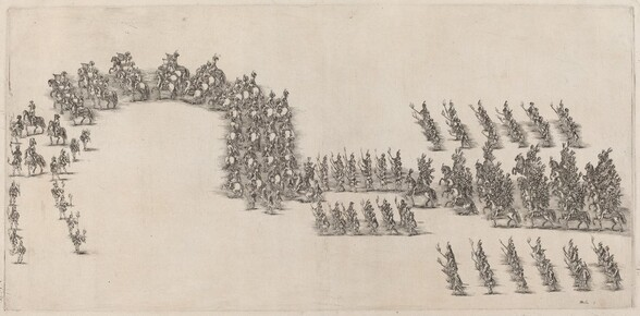 A Procession of Sixty Cavaliers and Torch Bearers
