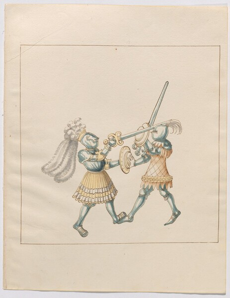 Freydal, The Book of Jousts and Tournament of Emperor Maximilian I: Combats on Foot (Jousts)(Volume III): Plate 168