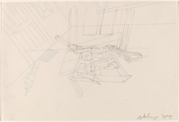 Basket, Table, Door, Window, Mirror, Rug [verso]