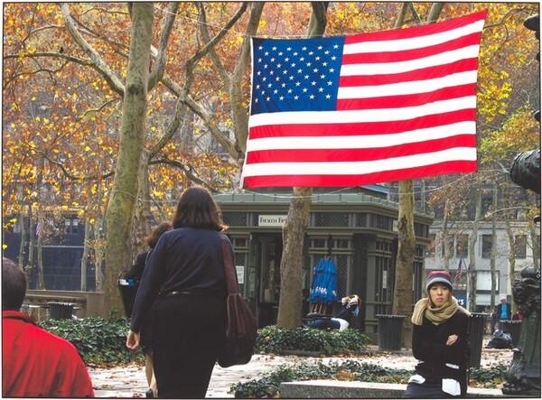 Bryant Park / New York City / 30 November 2001