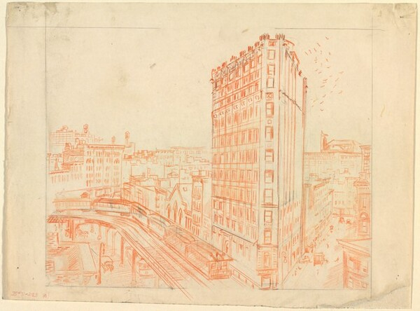 Study for The City from Greenwich Village, III