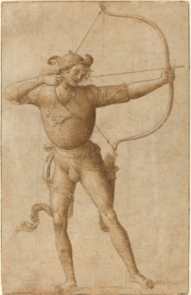 Archer Drawing a Bow