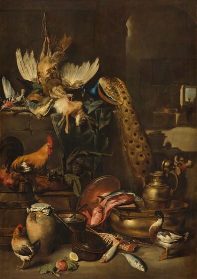<p>Anton Maria Vassallo, The Larder, probably c. 1650/1660