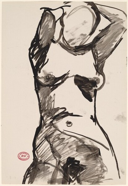Untitled [nude with her arms raised]