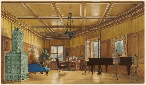 The Music Room of Archduchess Margarete, Princess of Saxony, in Schloss Ambras