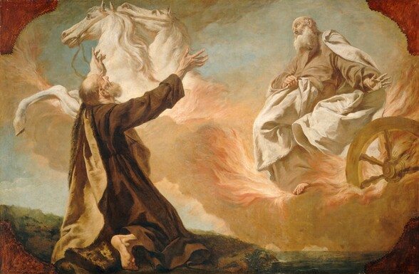 Elijah Taken Up in a Chariot of Fire