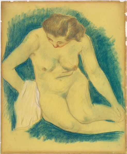 Seated Nude Seen from Above