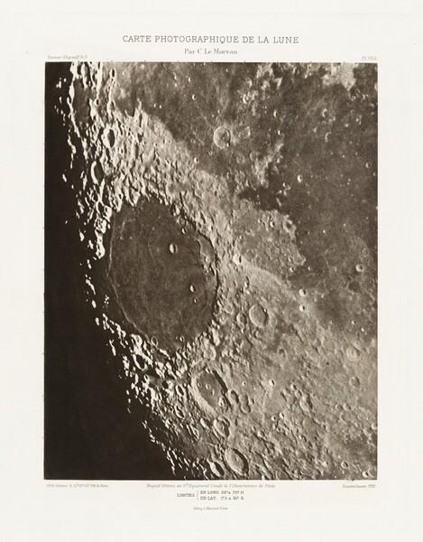 Carte photographique de la lune, planche VII.A (Photographic Chart of the Moon, plate VII.A)