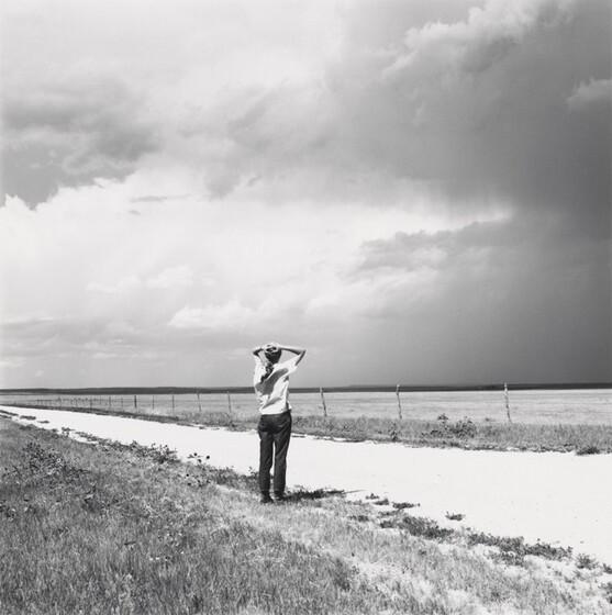 Robert Adams, Kerstin enjoying the wind, East of Keota, Colorado, 1969, printed c. 19771969, printed c. 1977