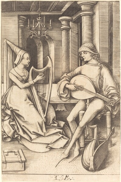The Lute Player and the Harpist