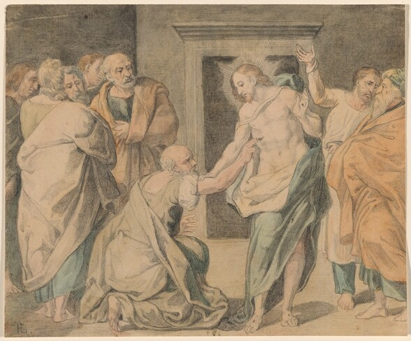 Christ with Doubting Thomas and the Apostles
