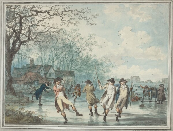 Skaters on the Serpentine in Hyde Park