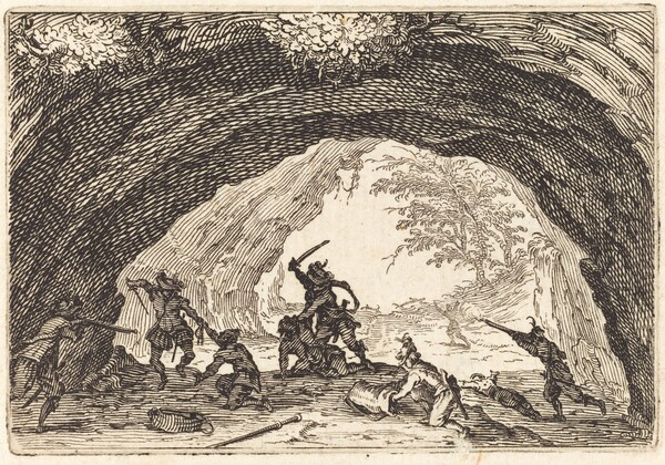 Soldiers Attacking Robbers