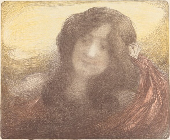 Young Woman with Long Hair