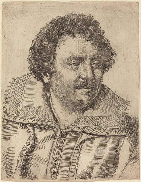 A Man with a Moustache and Goatee, Facing Right