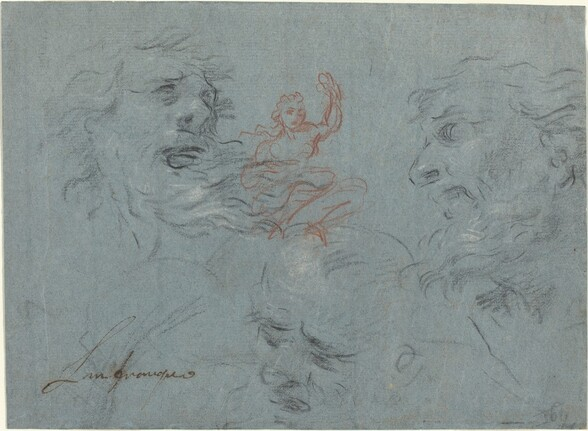 Study of Heads [recto]