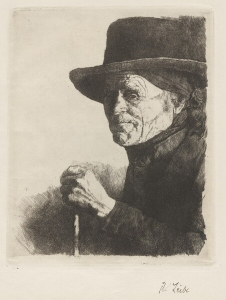 Old Farmer with a Hat