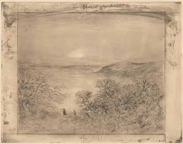 Lever de lune a Dinard (Moonrise at Dinard)