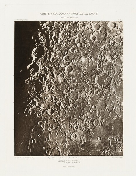 Carte photographique de la lune, planche III.A (Photographic Chart of the Moon, plate III.A)