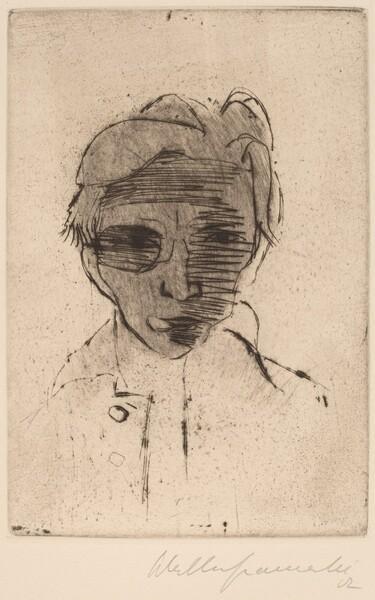 Gloomy Face, Self-portrait (Dunkles Gesicht, Selbstporträt)