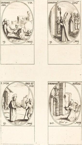 St. Potentiana; St. Dunstan; St. Yvo; St. Bernardinus of Siena