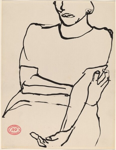Untitled [seated woman with crossed arms]