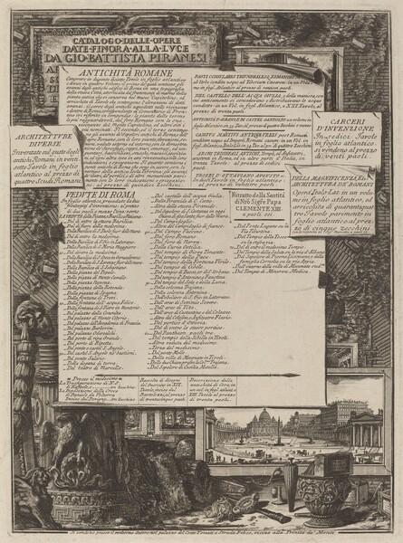 Catalogo delle Opere
