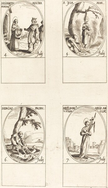 St. Elizabeth of Portugal; St. Zoe;  St. Isaiah, Prophet; St. Edelburge