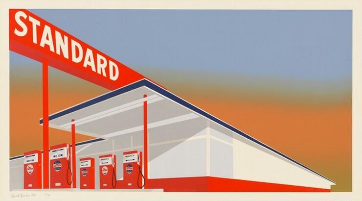 Ed Ruscha, Art Krebs, Audrey Sabol, Standard Station, 19661966
