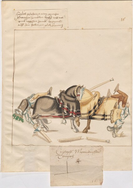 Freydal, The Book of Jousts and Tournaments of Emperor Maximilian I: Combats on Horseback (Jousts)(Volume I): Christoph Myndorffer Plate 15