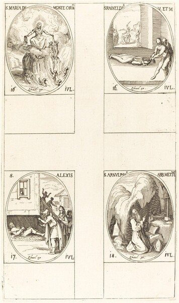 St. Mary of Mont Carmel; St. Raineldis; St. Alexis; St. Arnold of Metz
